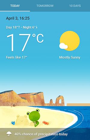 Google Weather Frog | 冰岩地带